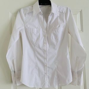 Express Essential Stretch White Shirt